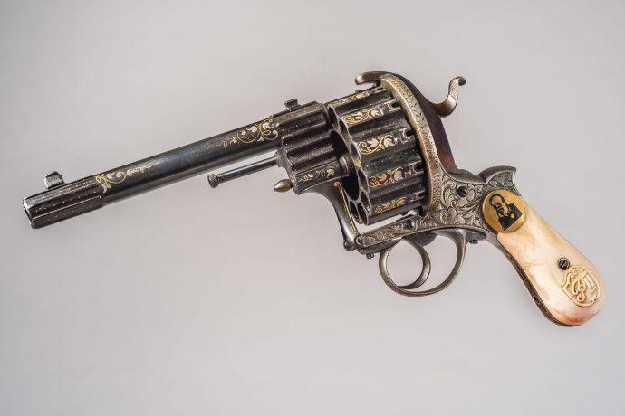 Revolver que perteneció a Pedro II. Emperador de Brasil