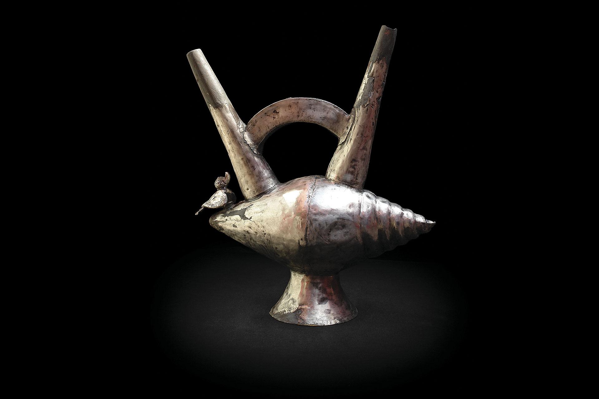 Caracol de plata. Cultura Chimú.