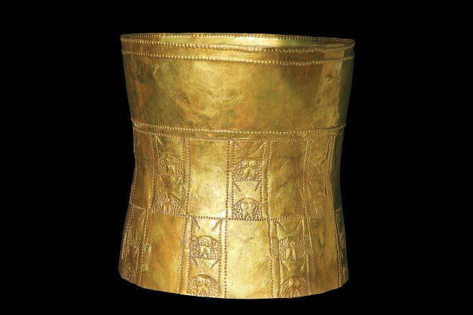 Corona de oro. Cultura Lambayeque.