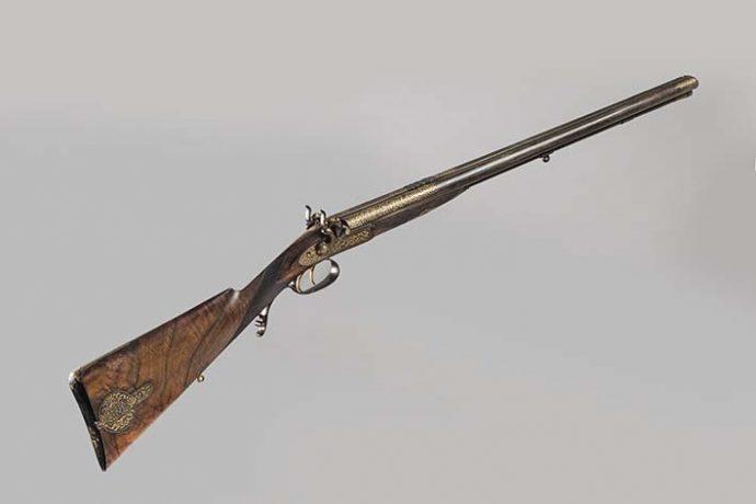 Escopeta fabricada por Mortimer para Nizam de Hyderabad