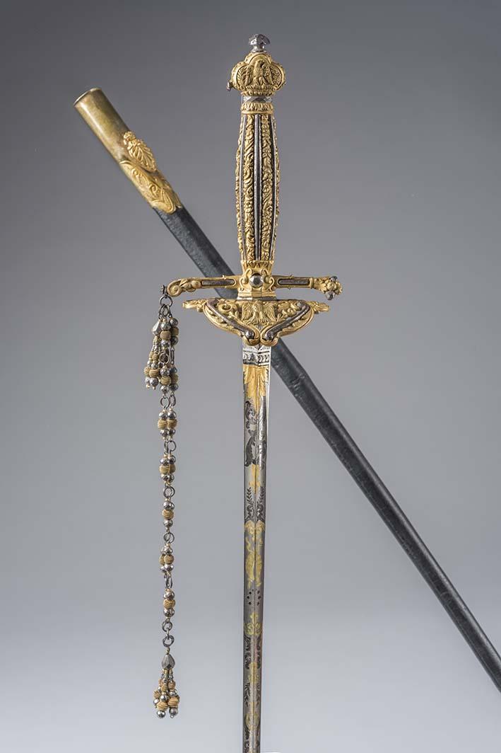 Espada labrada en oro que perteneció a Napoleón I