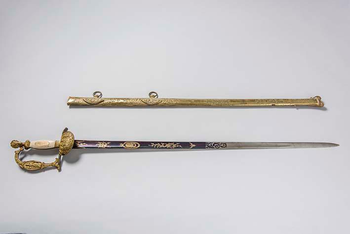 Espada que perteneció al Gral Antonio José de Sucre
