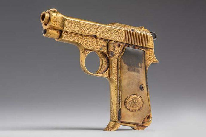 Pistola de Augusto B. Leguia. Presidente del Perú. Período 1919-1930.