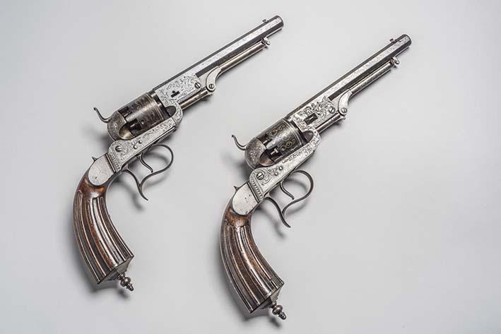 Revólveres que pertenecieron al Mariscal Ramón Castilla (1845-1851)